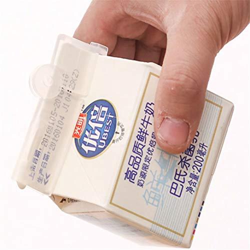 GHJUU Caja de Leche Sello Clips Alimentos Bebida Sellado Clip Snacks Mantener Sello Sellado Bolsa Clips Alimentos Frescos Bolsa Selladora Selladora
