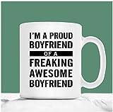 Taza de café gay, soy un orgulloso novio de un novio increíblemente increíble, regalos para novios gay, regalos para hombres gay, regalos de San Valentín para hombres gay