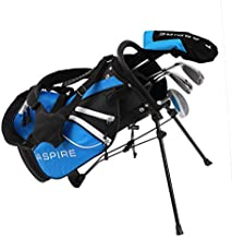 Aspire Junior Plus Complete Golf Club Set for Children Kids - 5 Age Groups Boys & Girls - Right Hand (Blue Ages 3-4)