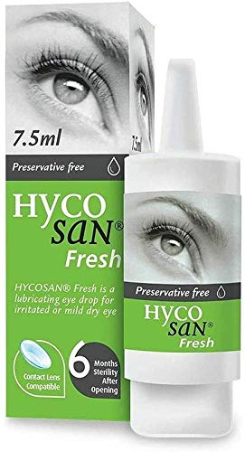 Hycosan Fresh - Preservative Free Eyedrops - Contains 0.03% Sodium Hyaluronate and Euphrasia to Reduce Redness - 7.5ml