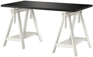 LINNMON FINNVARD Table, brun noir, hêtre, 150x75 cm IKEA