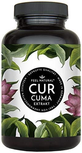 Curcuma Extrakt Kapseln – Extra-Hochdosiert: Curcumin Gehalt EINER Kapsel entspricht dem von ca. 15.000mg Kurkuma – Premium Extrakt mit 95% Curcumin - Laborgeprüft, vegan, hergestellt in Deutschland