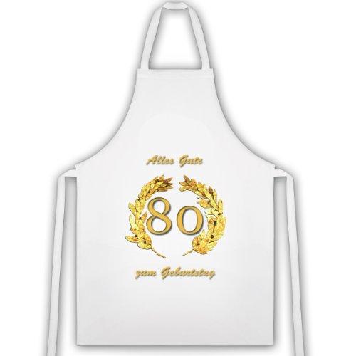 Tablier pour 80e Anniversaire en or