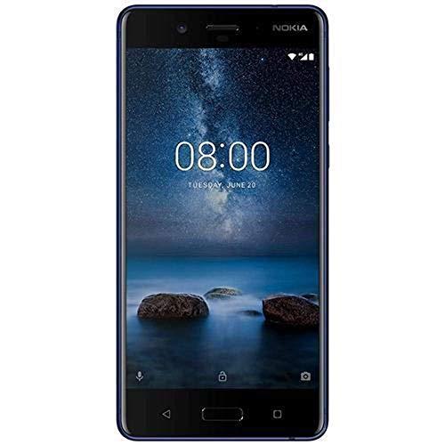 "Nokia 8 - Smartphone de 5.3"" Dual SIM (Qualcomm Snapdragon 835, Octa Core, 4 GB de RAM, memoria interna de 64 GB, Android 7.1.1 Nougat) azul"