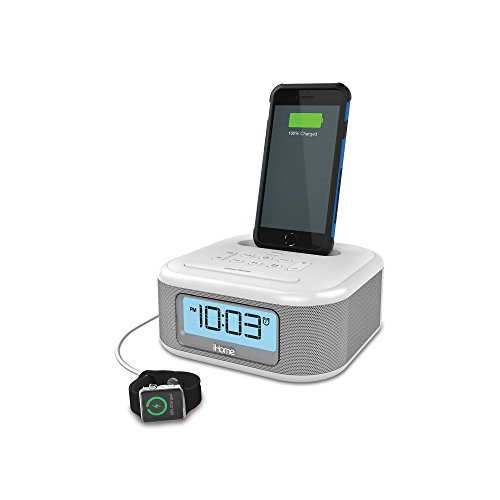 iHome iPL23 Alarm Clock FM Radio Lightning iPhone Charging Dock Station iPhone XS, XS Max, XR, X, iPhone 8/7/6 Plus USB Port Charge USB Device