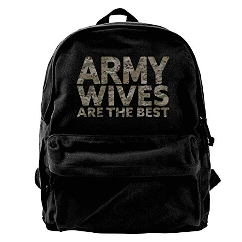 Army Wives are The Best Canvas Backpack School Laptop Bag for Women & Men Travel Bookbag