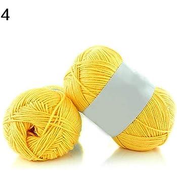 Qingsb - Madeja súper suave de bambú y algodón transpirable, para hacer punto y ganchillo, ideal para bebé 4: Amazon.es: Hogar