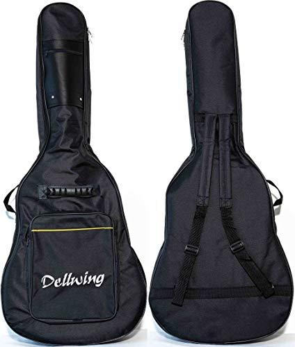 Dellwing Gitarrentasche 4/4 - Hochwertige Gitarrentasche Für Westerngitarre, E-Gitarre, Akustikgitarre, Konzertgitarre & Klassische Gitarre - Gigbag In Schwarz