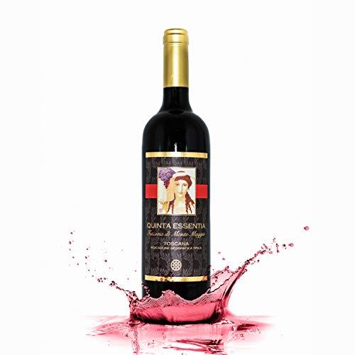 Rotwein - Quinta Essentia di Montemaggio IGT - Italienischer Bio-Rotwein - Super Toskanischer Luxuriöser Edler Bio - Merlot/Sangiovese - Fattoria di Montemaggio - ML. 750-1 Flasche
