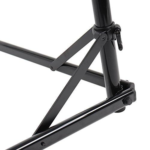 Contec Fahrrad Montageständer eBike Set Rock Steady, Traglast: ca. 30 kg, Klemme 360° rotierbar, (H/B/T) ca. 100x104x82 cm (Aufgebaut) inkl. Werkzeugschale - 4