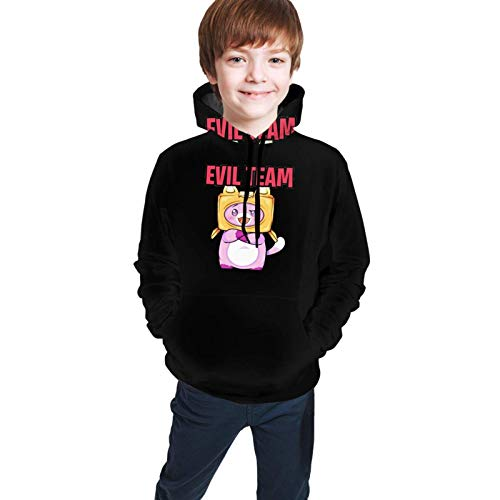 hengtaichang Youth Merch Lankybox Boxy Hoodie, Sports Hoodie Fashion Style with Pocket