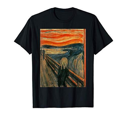 El grito de Edward Munch- Camiseta de arte expresionista con mangas