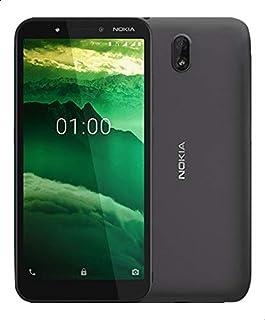 موبايل C1 من نوكيا، شريحتين اتصال, 5.45 بوصة، 16 جيجابايت، ذاكرة رام بسعة 1 جيجابايت، 3G - رصاصي