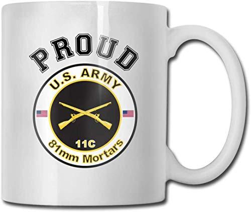 Armee MOS 11C 81 mm Mörser lustiges Geschenk Becher weißer Tee Becher 11 oz