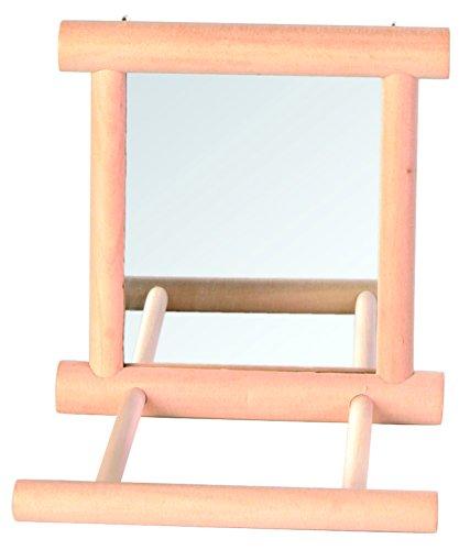 Trixie 5861 Spiegel met houten lijst, 9 × 9 cm
