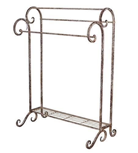 Handtuchhalter Shabby Chic Handtuchständer Vintage Metallständer Eisenständer aja049 Palazzo Exklusiv
