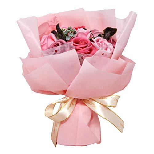 ソープフラワー ギフト 花束 ブーケ バラ 結婚祝い 誕生日 花 母の日 父の日 入学祝い 卒業祝い お返し 記念日 プレゼント 小さい 卒園 造花 キュート 送別会 シャボンフラワー 赤 ピンク 黄 青 紫 ソープフラワー,ピンク