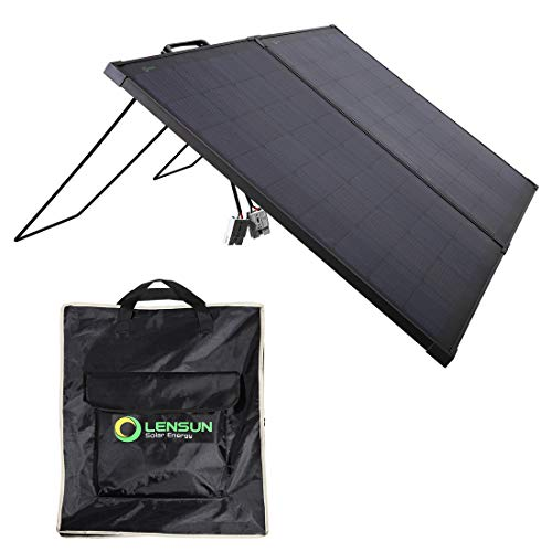 Lensun Innovative 12V 100W Super Lightweight Thin Portable Folding ETFE Solar Panel Kit, Perfect for Camping Life as a Solar Companion