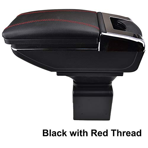 Reposabrazos giratorio para 307 rosca negra caja de almacenamiento reposabrazos