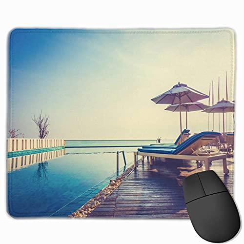 Gaming-Mauspad, Premium-strukturierte Mauspad-Pads, niedliches Mousepad für Spieler, Büro und Zuhause Schöner Luxus-Swimmingpool im Hotel Resort Umbrella