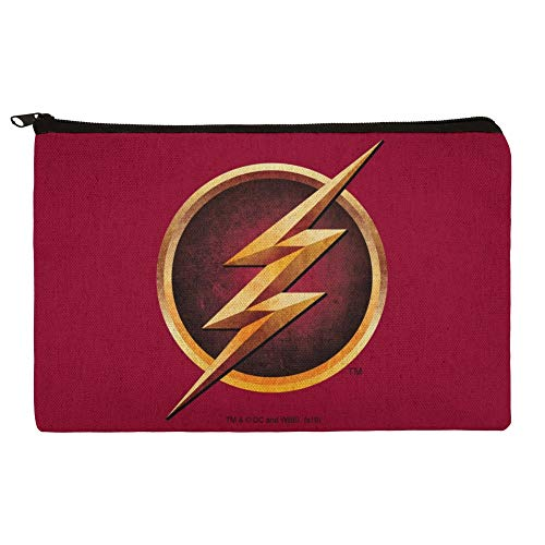 The Flash TV Series Logo Pencil Pen Organizer Zipper Pouch Case