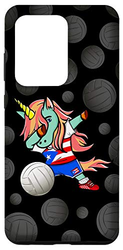 Galaxy S20 Ultra Unicorn Puerto Rico Volleyball Fans Jersey Puerto Rican Flag Case