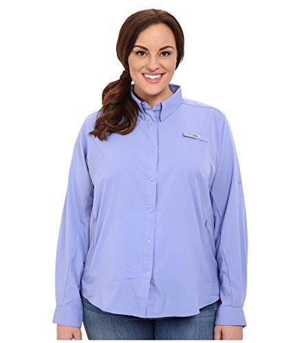 Columbia Women's Tamiami II Long Sleeve Shirt, X-Small, Pale Purple