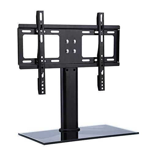 AYNEFY Soporte para TV con Altura Ajustable, Soporte para TV con Estabilidad y Altura Ajustable con Base de Madera Soporte Universal para TV de sobremesa para televisores LCD/LED/Plasma de 32