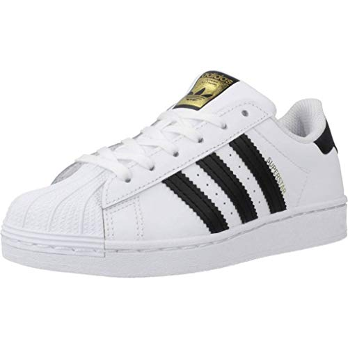 adidas Unisex-Child Superstar Sneaker, Footwear White/Core Black/Footwear White, 30 EU