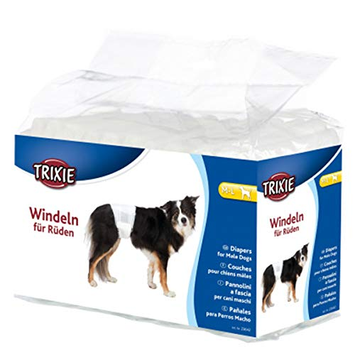 Trixie Windeln für Rüden Hundewindel Hygieneunterhose Hunde Unterwäsche Hose (M-L (23642))