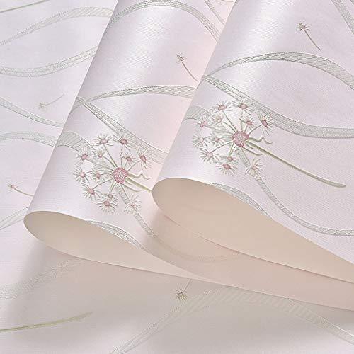 Papiertapete Pink/Blau Vliestapete Wallpaper 3D gestreifte Tapete 31 * 2 Fuß Oberflächenschutz (Color : Pink, Größe : 31 * 2 feet)