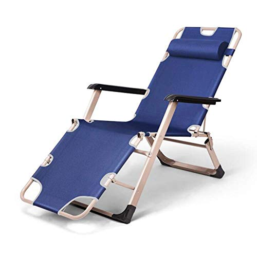 SBDLXY Leisure Office Chair Sun Lounger Chair Recliner Sofa Bed Reclining Seat Folding Outdoor Patio Garden Furniture Durable Strong