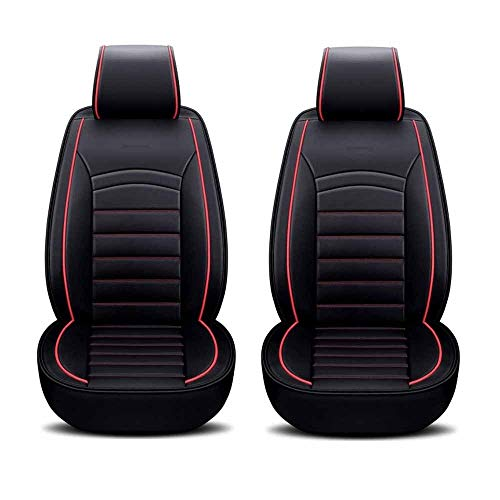 Sedile Universale per Guidatore E Passeggero,coprisedili Universali in Pelle PU Compatibili con Sedili con Airbag Fit La Maggior Parte dei Veicoli Posti Accessori Interni