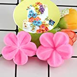 SUNSK Molde de Pastel de Flores de Flores de Cerezo Moldes de Silicona para Fondant de Flores Molde de Chocolate para Magdalenas Moldes para Hornear azúcar