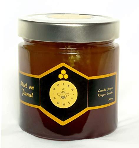 Queen Honey Miel en Panal de Mil Flores 500 gr. 100{ab1a617ab1806dec717243a706c4589f632ba93666b9464b84328937df5b3428} Cruda y Natural. La manera más Natural de tomar la miel. Directa del Apicultor