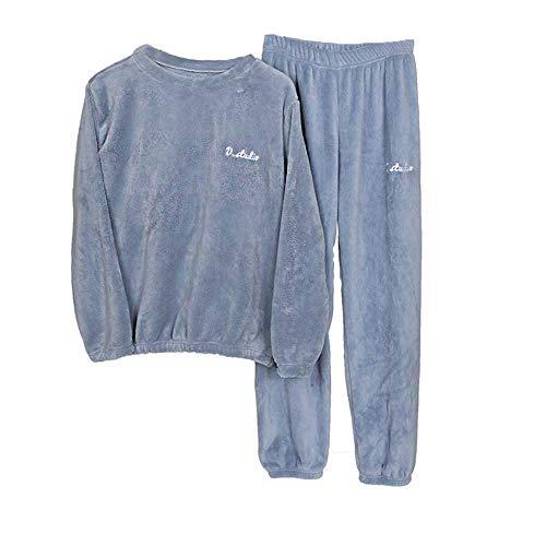 Pijama Hombre, Pijama Forro Polar de Dos Piezas con Manga Larga, Regalos Originales para Hombre