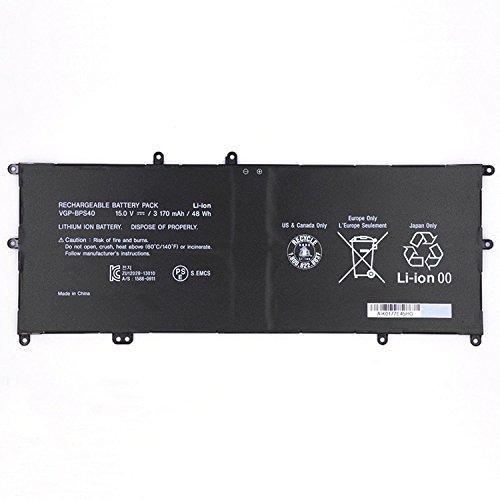 7xinbox 15V 48Wh 3170mAh VGP-BPS40 Ersatz Akku Batterie für Sony Vaio Flip SVF 15A SVF15N17CXB SVF15NB1GL SVF15NB1GU SVF15NA1GL SVF15NA1GU SVF15N18PXB SVF15N26CXB SVF15N28PXB SVF15N23CGS