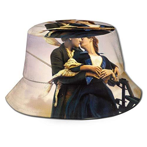 dongwan Sombrero de pescador de Titanic, transpirable, con impresión completa, sin deformación, apto para cualquier estación, unisex