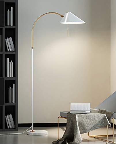 LaMP-XUE Staande ledlamp, overzichtelijk design, moderne staande lamp met hangende lampenkap, slaapkamer en woonkamer, staande lamp
