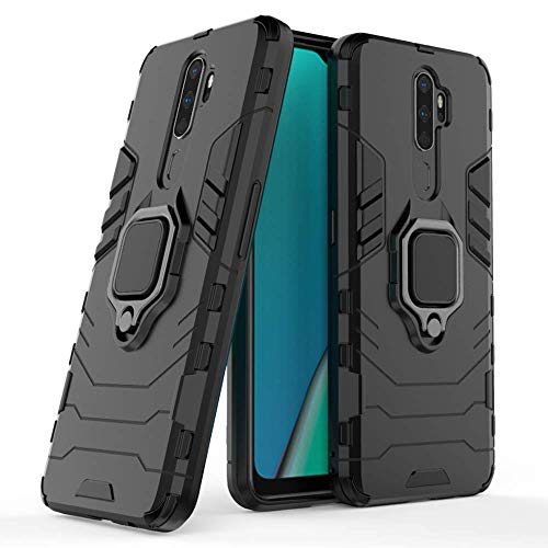 Casodon Ring Holder Hybrid Back Cover for Oppo A9 2020 (6.4 inch)...