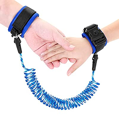 Reflective Anti Lost Wrist Link, Anti Lost Wrist Link Anti Lost Leash Baby Leash with Child Upgraded Safety Locks for Kids (Blue 8.2 Ft) …