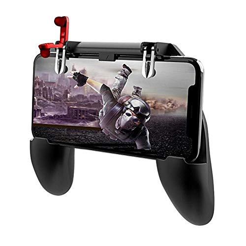 Mobile Gaming Bros Mobile Game Trigger Joystick Controller für iOS iPhone & Android, passend für bis zu 6,5 Zoll Handys, L1R1 und PUBG Mobile Game Controller, Gamepad Zubehör
