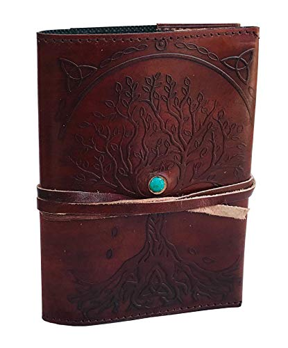 Ruzioon Leather Journal Writing Notebook - Antique Handmade Leather Bound Daily Notepad For Men And Women Diary Large 9 X 6 Inches, Gift For Art Sketchbook, Travel Diary And Notebooks To Write In Art