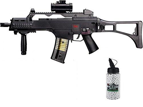 G8DS Set: HK Heckler & Koch G36 C AEG ELEKTRISCH Softair Gewehr Bio Softairkugeln 6mm 0,20g 2000 BBS
