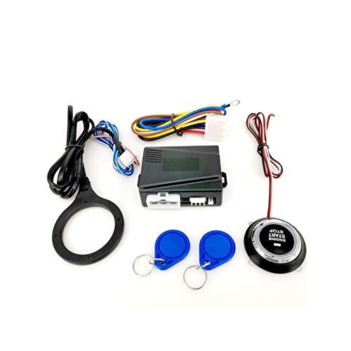 Yongyong MeiMei Store SQ9002X 12V Motor Push Push Starts RFID Ignition Starter Accesorios de automóviles sin Llave Inicio de Motor Stand System Push BOTÓN Motor Remoto (Color : Black)