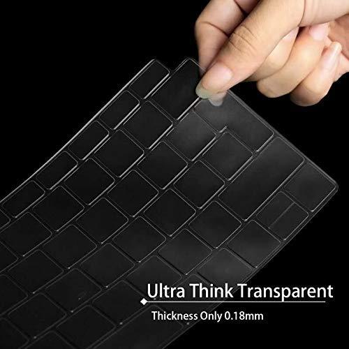 MOSISO Premium TPU Tastaturschutz Kompatibel Neueste MacBook Air 13 Zoll 2019 2018 Freisetzung A1932 mit Retina Display & Touch ID, Ultra Dünn EU-Layout Tastatur Schutzfolie Transparenter Haut, Klar