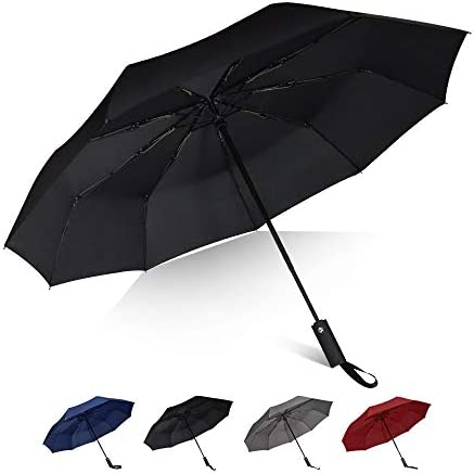 Brainstorming Travel Windproof Umbrella with Teflon Coating Auto Open Close Lightweight with product image
