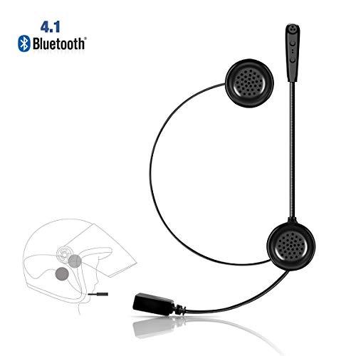 Ejeas E1 Auriculares Motocicleta Cascos Bluetooth 4.1 Inalámbricos, Manos Libres Moto Casco Auricular Altavoces Estéreo Música con Micrófono Control de Llamadas
