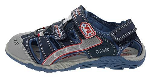 Billowy 5750c14 Leder Sandalen blau, Groesse:34.0