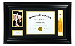 Diploma Frame for High School or College Graduation Gift and Graduation Pictures